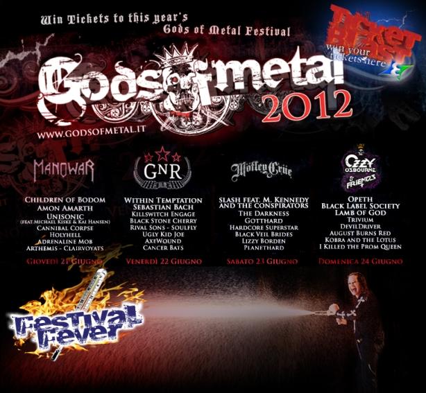 Win Gods of Metal tickets 2012