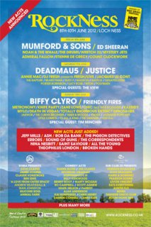 Rockness Festival poster May 2012