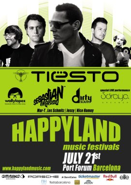 Happyland Music Festival 2012, Barcelona, Spain