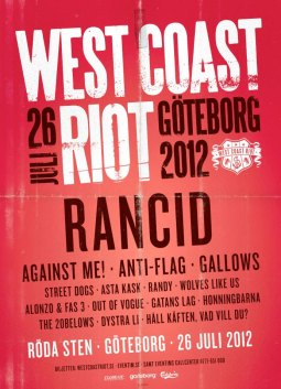 West Coast Riot Poster 2012