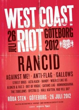 West Coast Riot Poster 2012