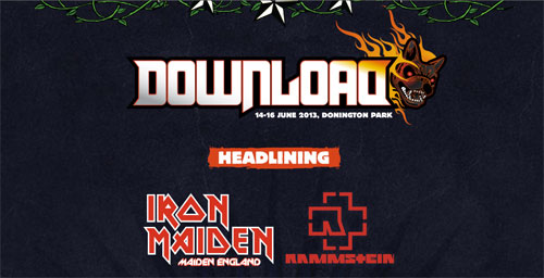 Download Festival Headliners 2013